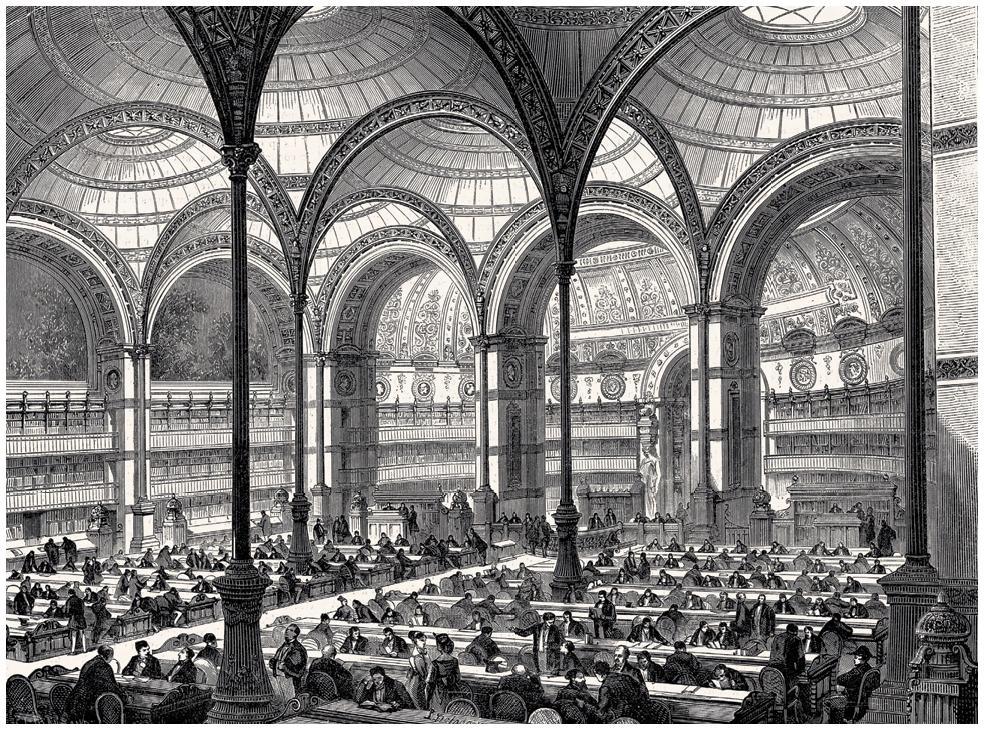 La nouvelle salle de lecture à la Bibliothèque impériale, L'Univers illustré, no 699, 6 juin 1868